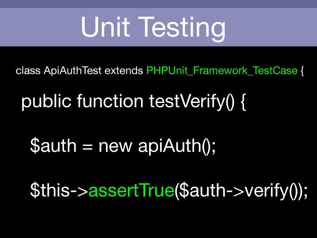 Unit Testing class ApiAuthTest extends PHPUnit_...