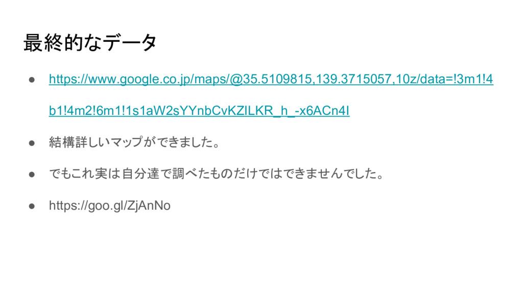 最終的なデータ ● https://www.google.co.jp/maps/@35.510...