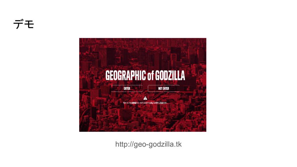 デモ http://geo-godzilla.tk