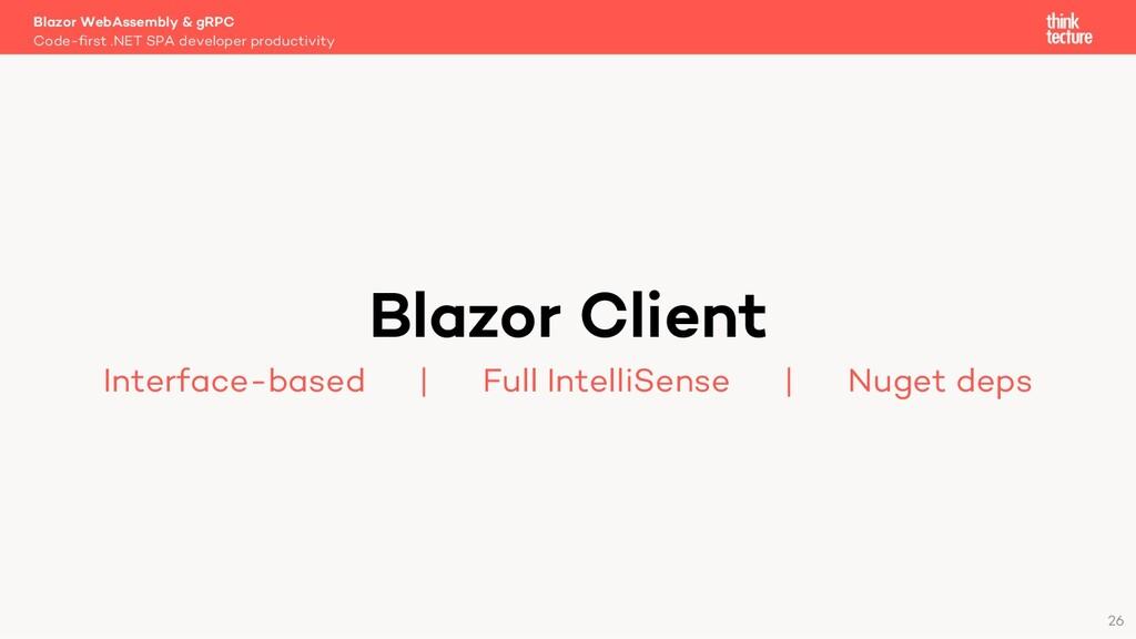 26 Blazor Client Interface-based   Full Intelli...