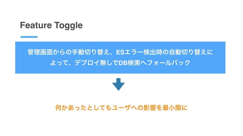 Feature Toggle ཧը໘͔ΒͷखಈΓସ͑ɺESΤϥʔݕग़ͷࣗಈΓସ͑ʹ Α...