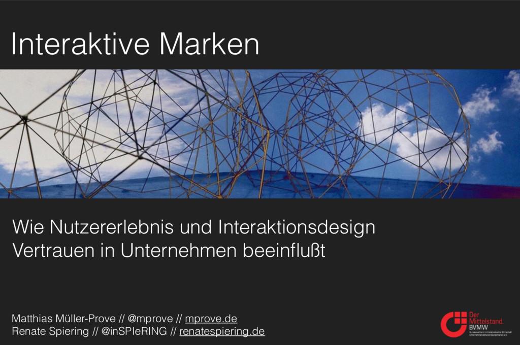 Wie Nutzererlebnis und Interaktionsdesign Vertr...