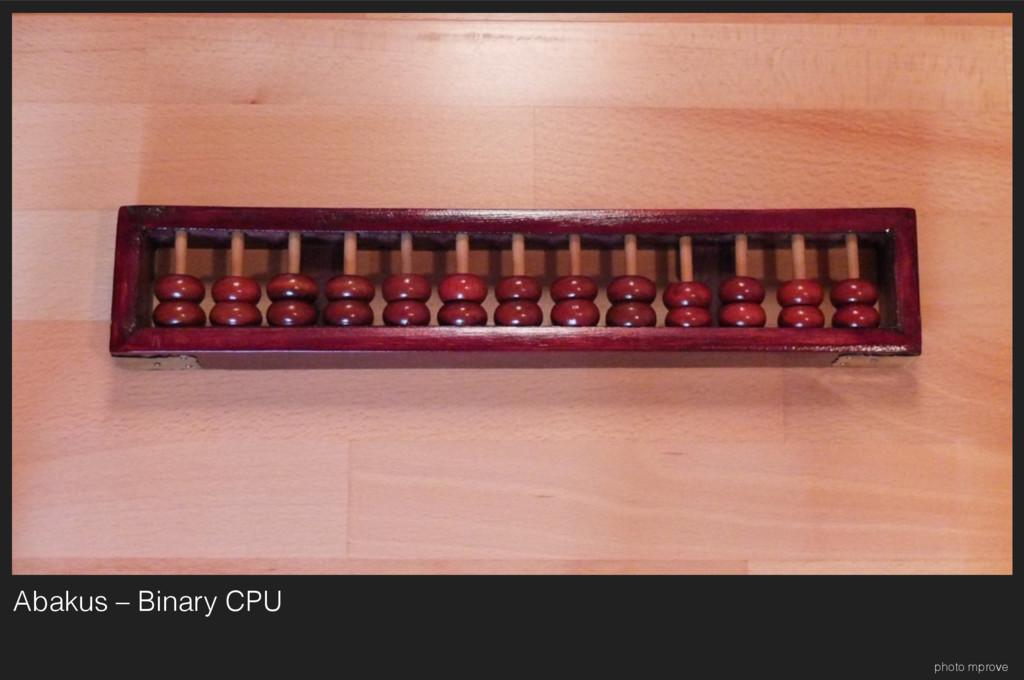 Abakus – Binary CPU photo mprove
