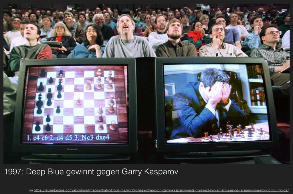 1997: Deep Blue gewinnt gegen Garry Kasparov vi...