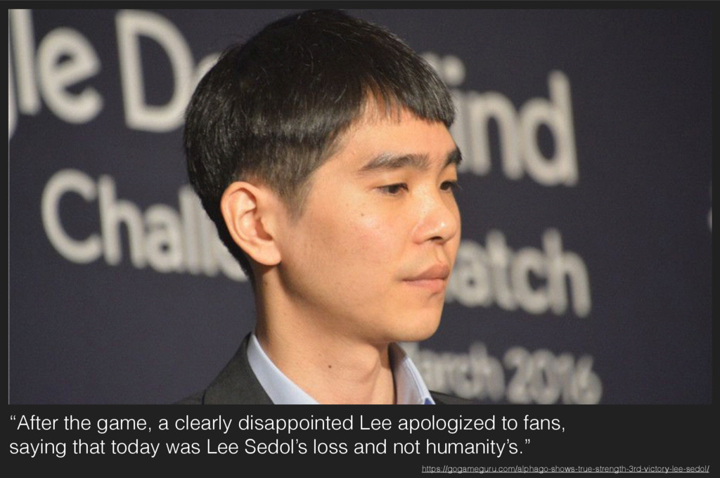 """""""After the game, a clearly disappointed Lee apo..."""