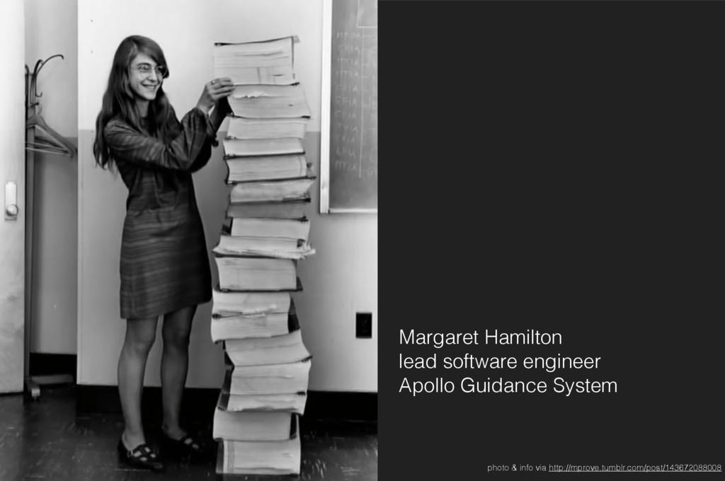 Margaret Hamilton lead software engineer Apol...