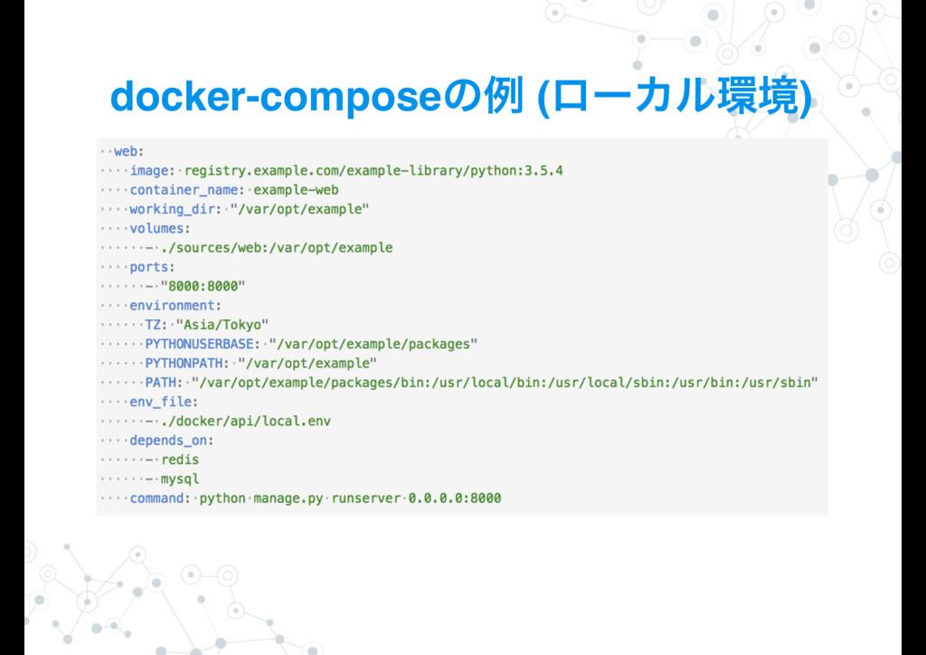 docker-composeͷྫ (ϩʔΧϧڥ)