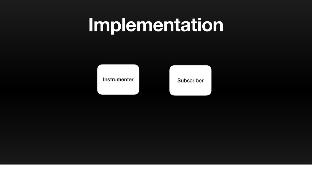 Implementation Instrumenter Subscriber