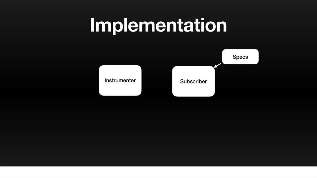 Implementation Instrumenter Subscriber Specs