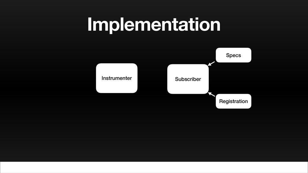Implementation Instrumenter Subscriber Specs Re...