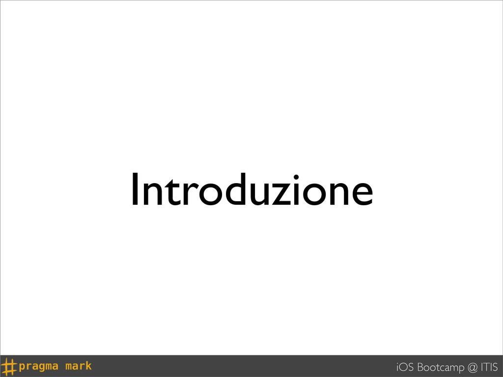 iOS Bootcamp @ ITIS Introduzione