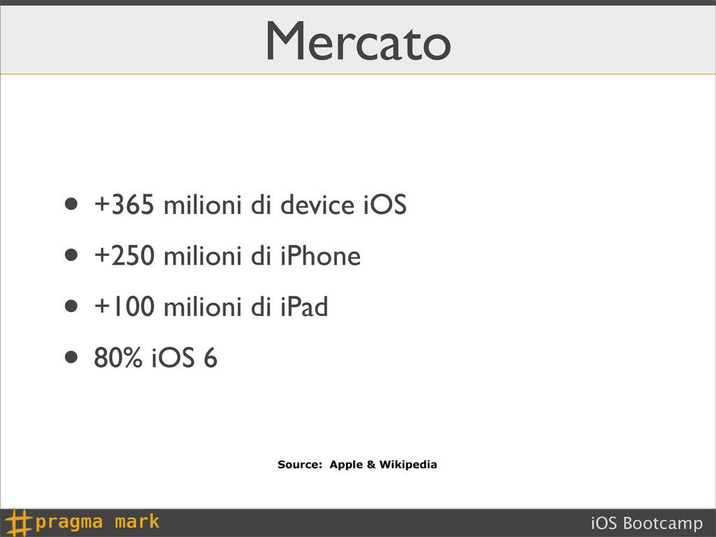iOS Bootcamp Mercato • +365 milioni di device i...