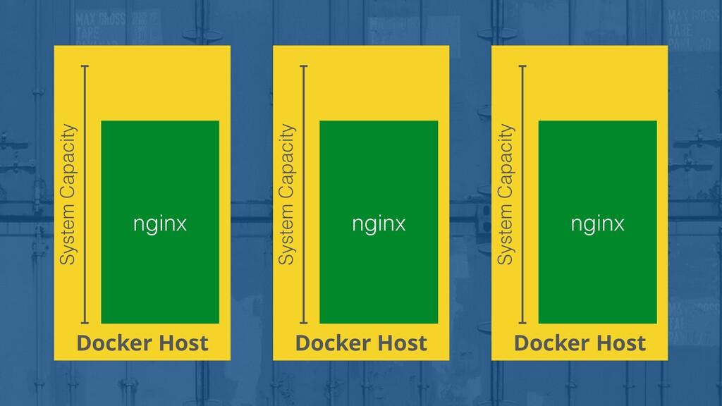 Docker Host System Capacity Docker Host System ...