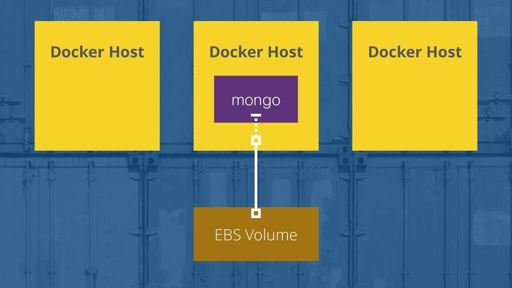 Docker Host EBS Volume Docker Host Docker Host ...