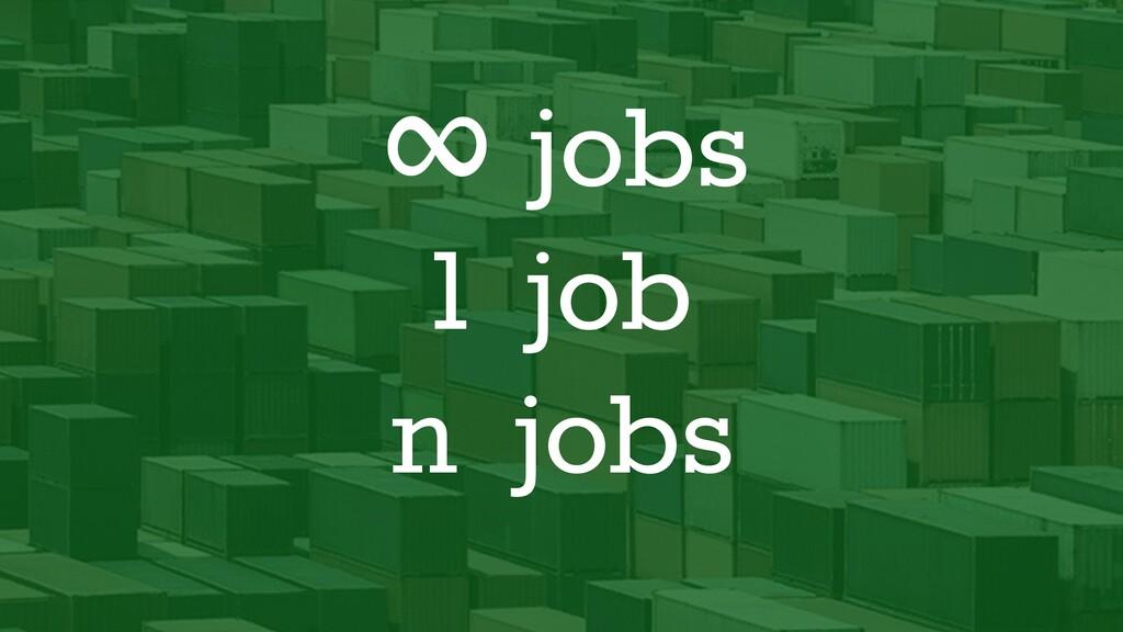 ∞ jobs 1 job n jobs