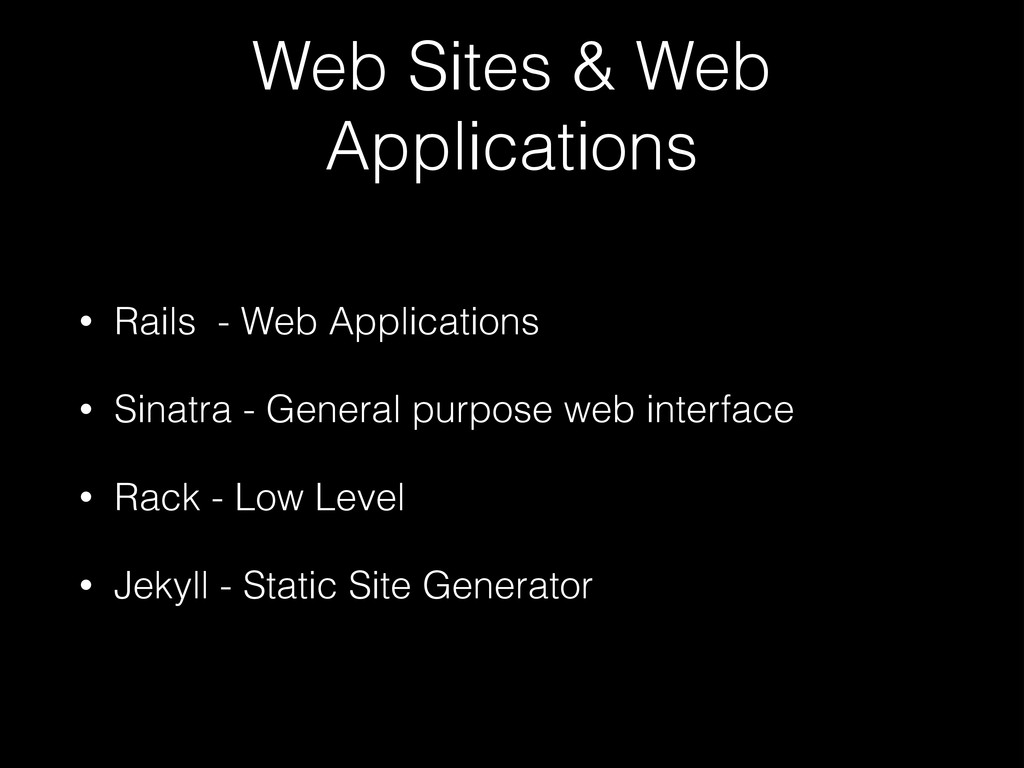 Web Sites & Web Applications • Rails - Web Appl...