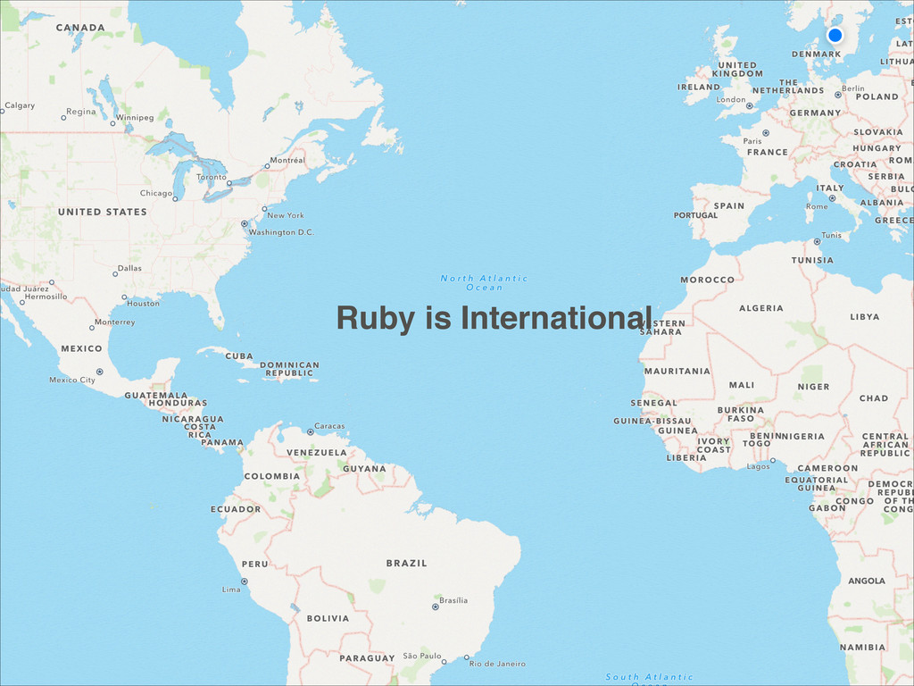 Ruby is International
