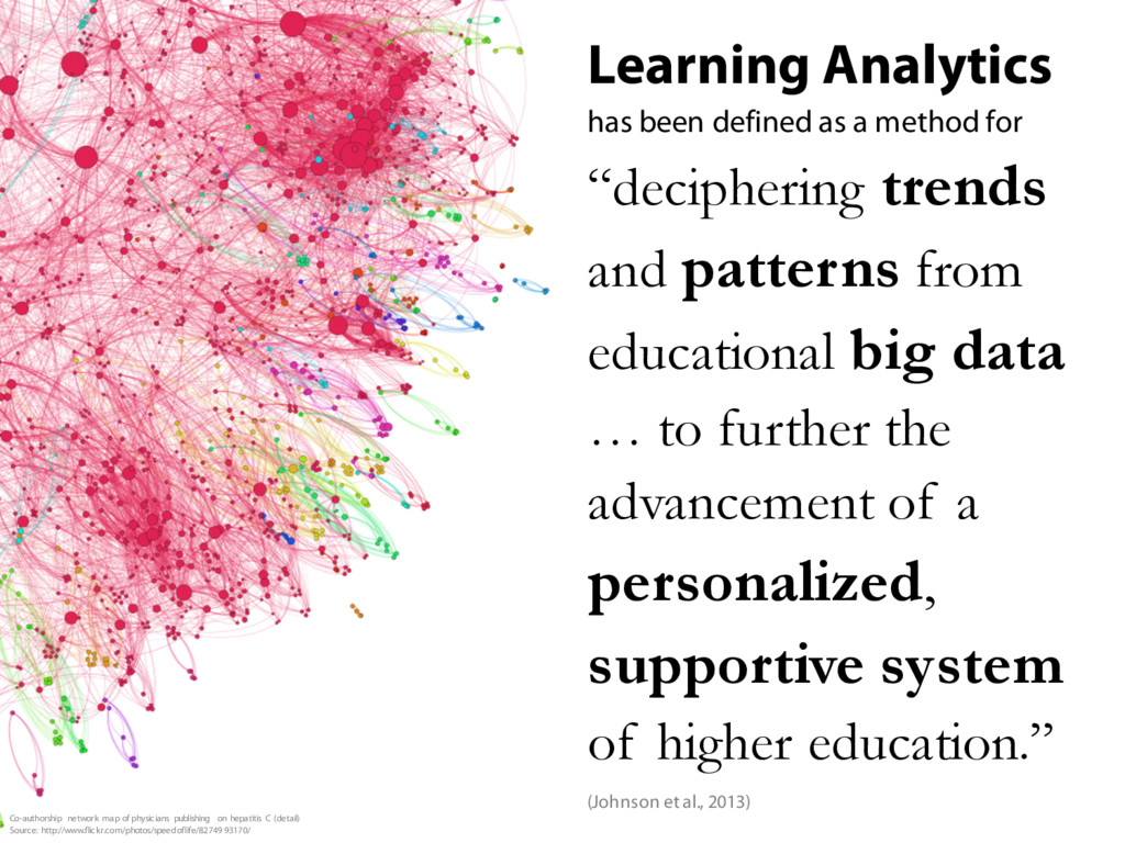 Learning Analytics has been defined as a method...