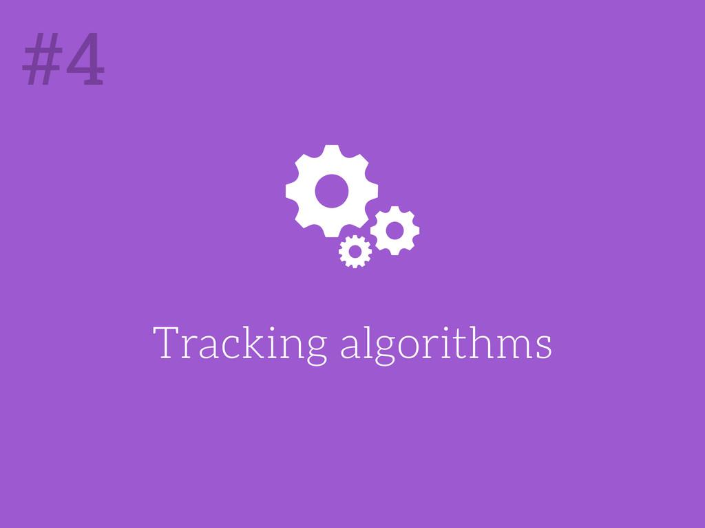 Tracking algorithms #4