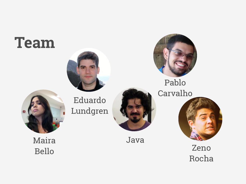 Maira Bello Pablo Carvalho Zeno Rocha Team Edua...