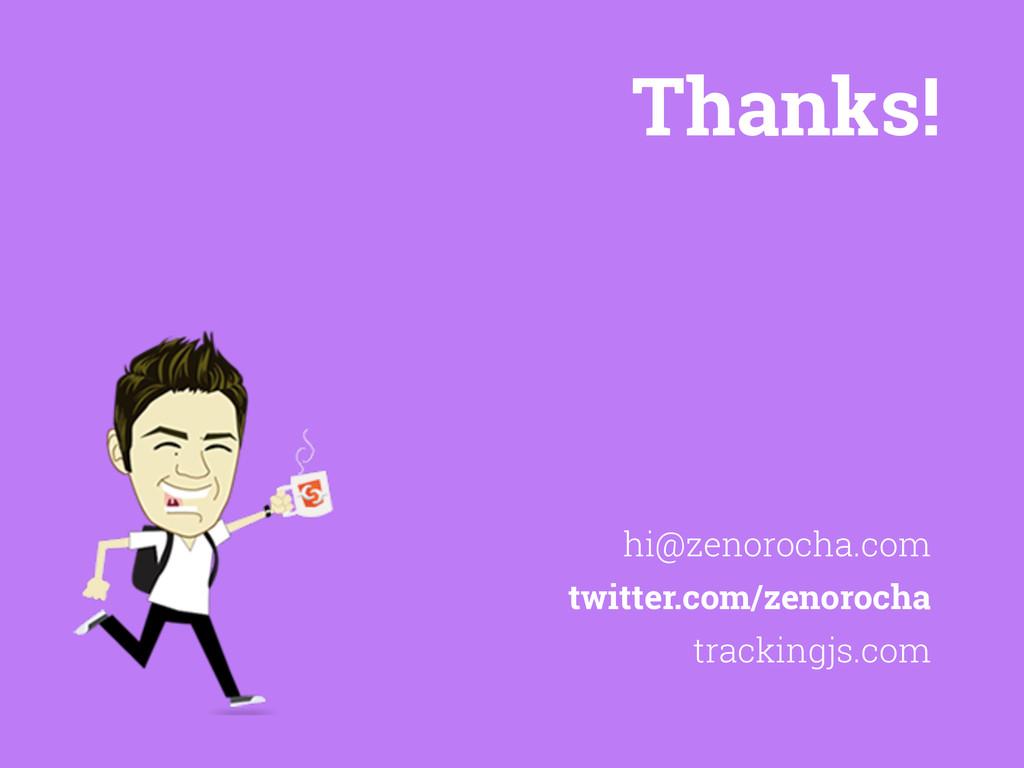 Thanks! trackingjs.com hi@zenorocha.com twitter...