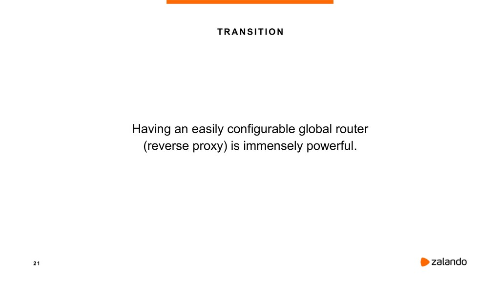 2 1 TRANSITION Having an easily configurable gl...