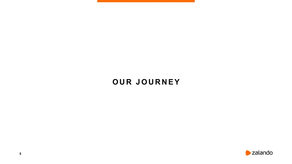 5 OUR JOURNEY