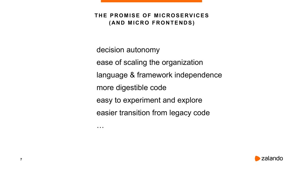7 THE PROMISE OF MICROSERVICES  ( A ND M I CR ...
