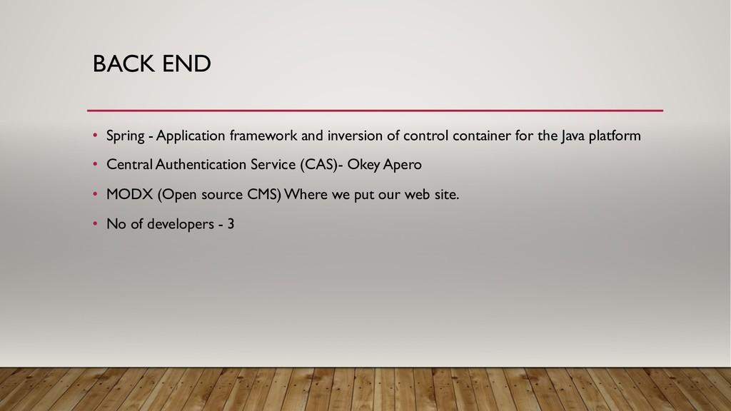 • Spring - Application framework and inversion ...