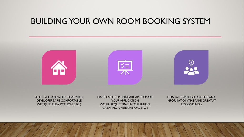 BUILDING YOUR OWN ROOM BOOKING SYSTEM SELECT A ...