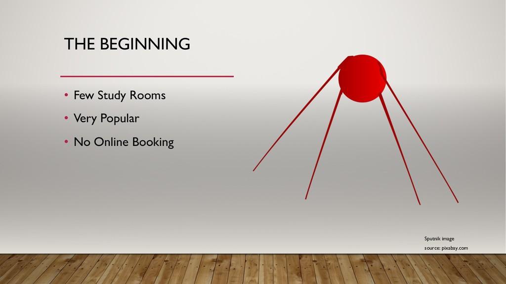 THE BEGINNING • Few Study Rooms • Very Popular ...