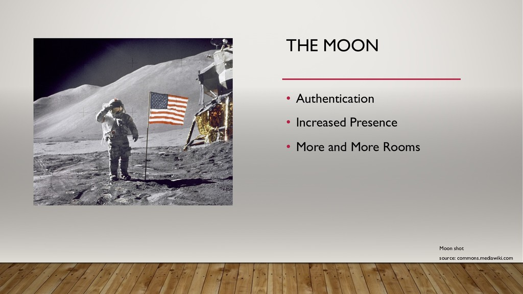 THE MOON • Authentication • Increased Presence ...