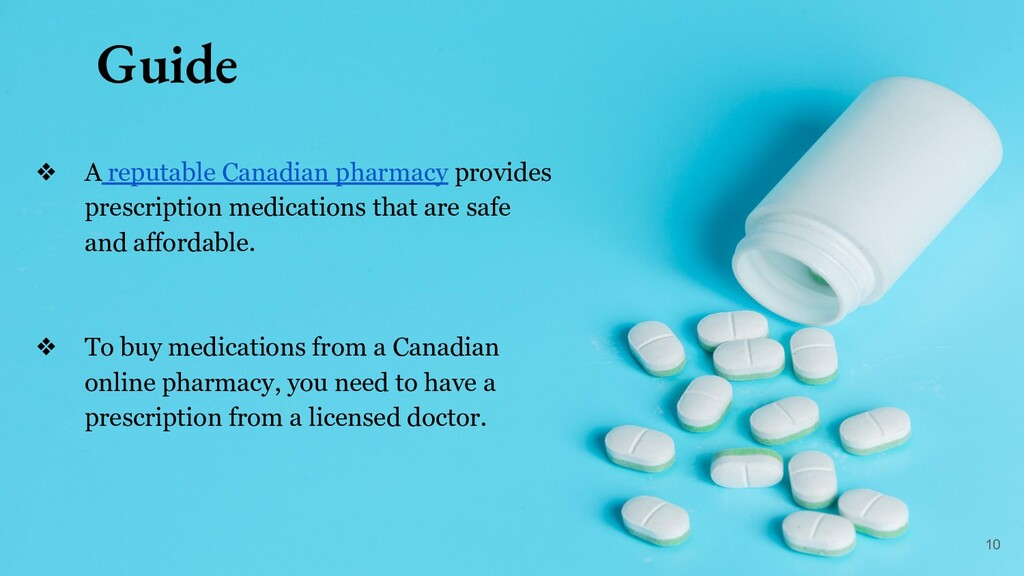 Guide ❖ A reputable Canadian pharmacy provides ...