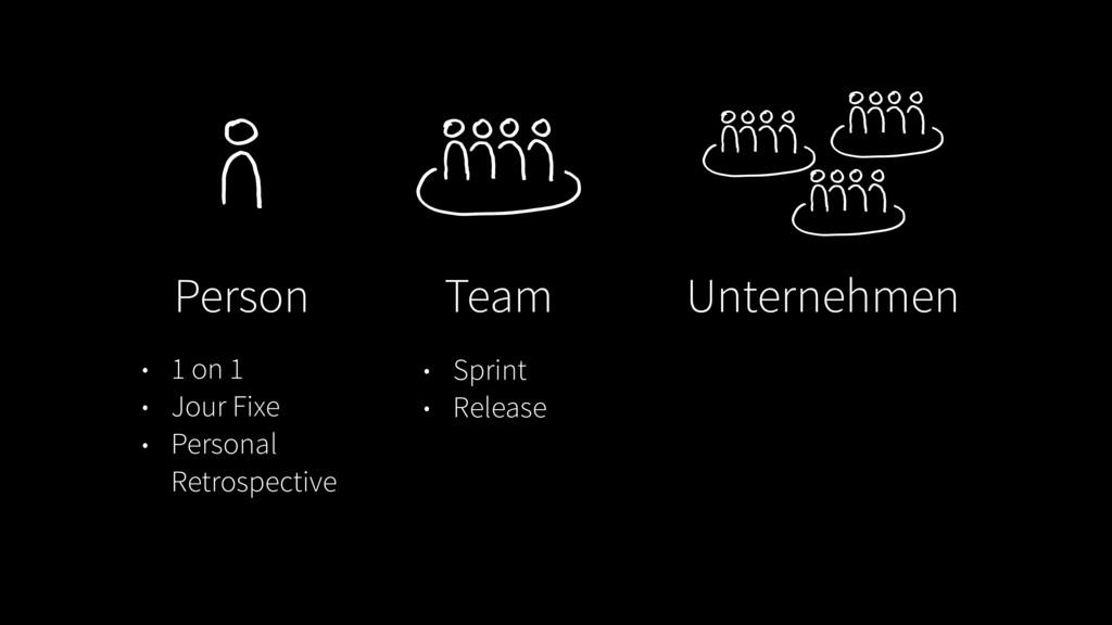 Person Team Unternehmen • 1 on 1 • Jour Fixe • ...