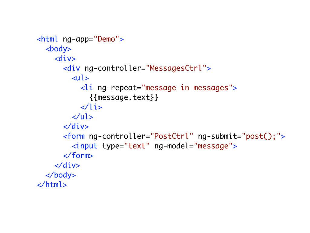 """<html ng-app=""""Demo""""> <body> <div> <div ng-contr..."""