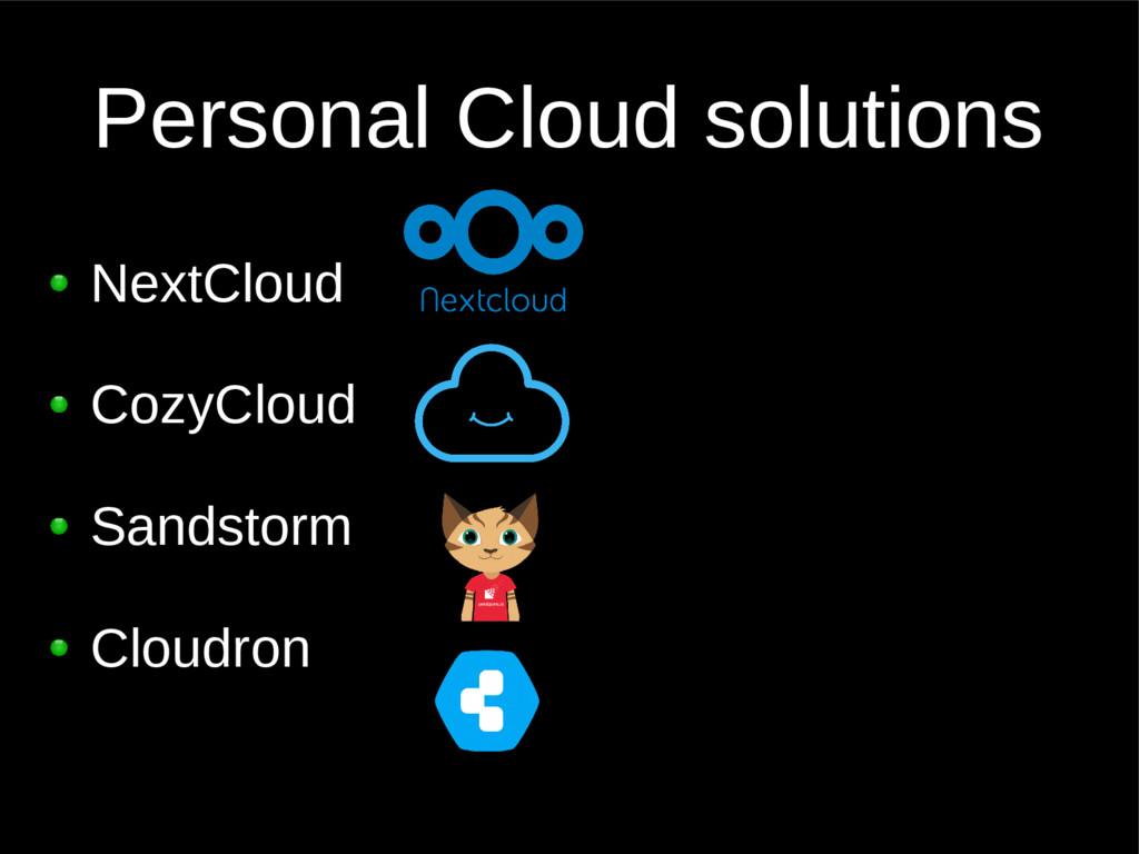 Personal Cloud solutions NextCloud CozyCloud Sa...