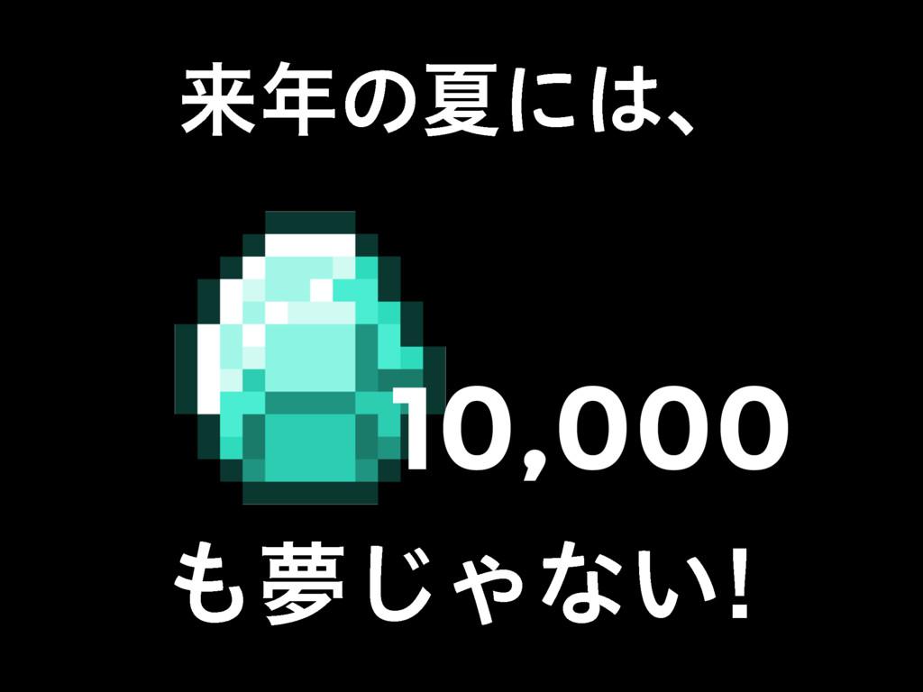 དྷͷՆʹɺ ເ͡Όͳ͍ 10,000