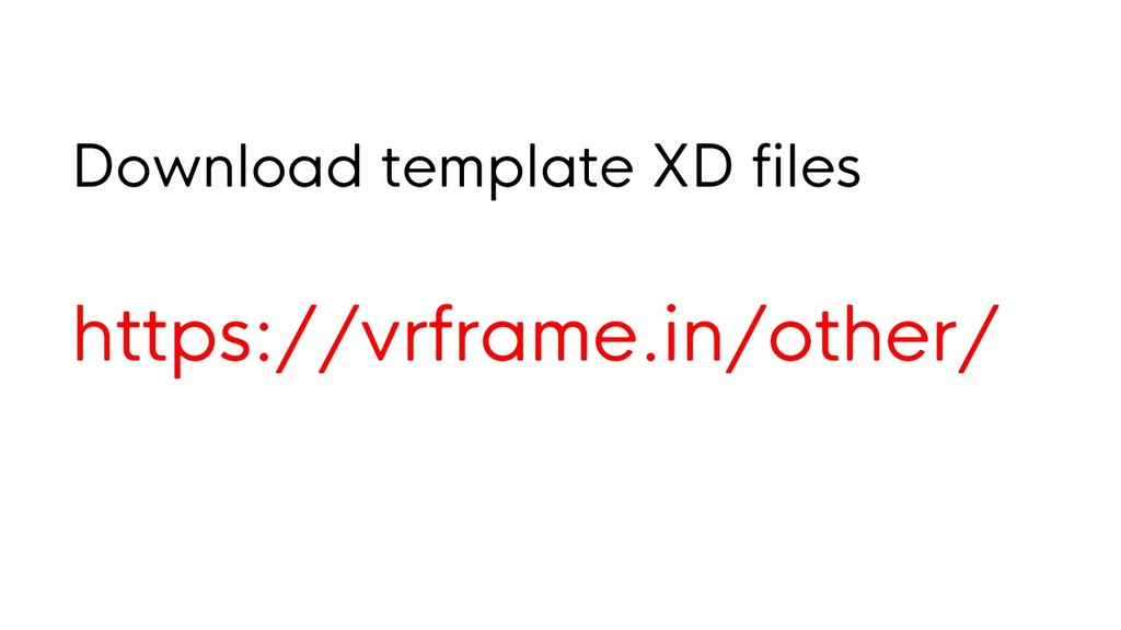 Download template XD files https://vrframe.in/o...