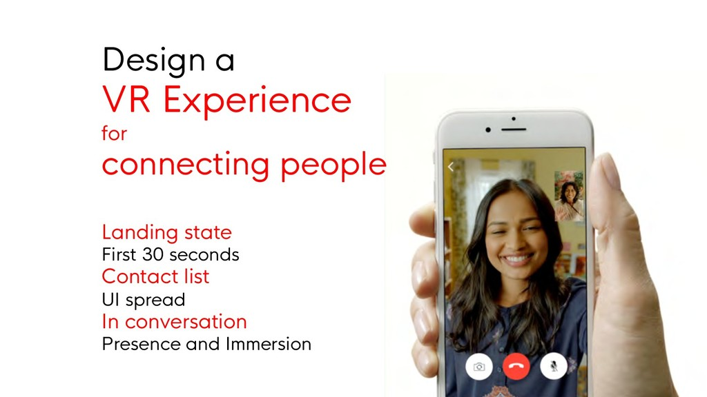 Design a VR Experience for connecting people La...