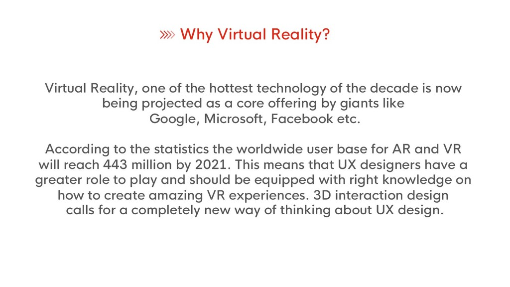 Virtual Reality, one of the hottest technology ...