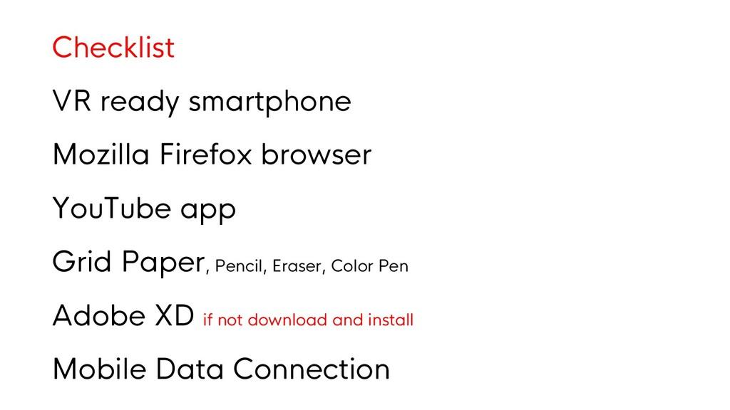 Checklist VR ready smartphone Mozilla Firefox b...