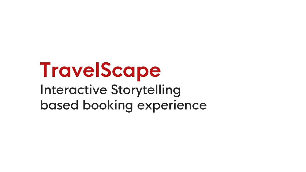 TravelScape Interactive Storytelling based book...