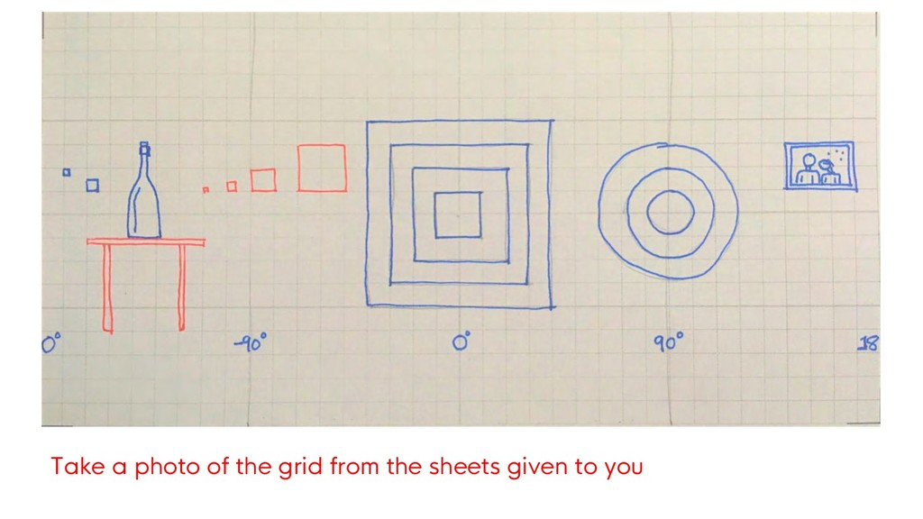 Take a photo of the grid from the sheets given ...