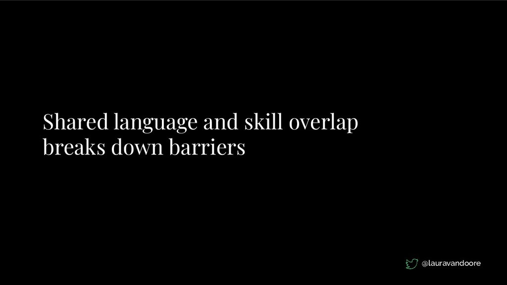 Shared language and skill overlap breaks down b...