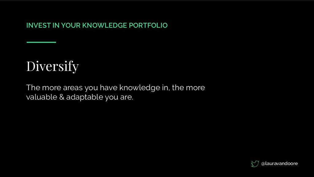 INVEST IN YOUR KNOWLEDGE PORTFOLIO Diversify Th...