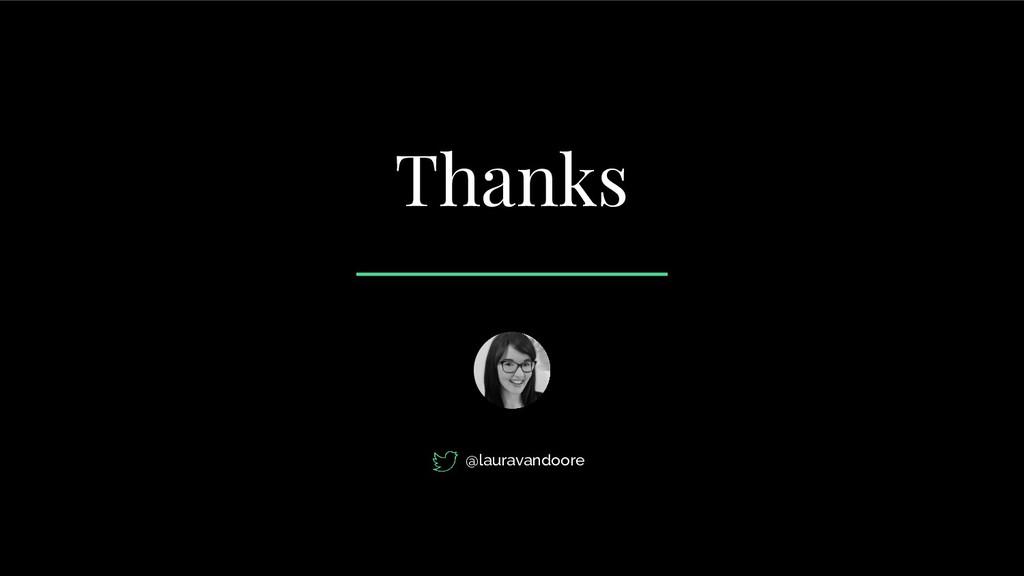 Thanks @lauravandoore