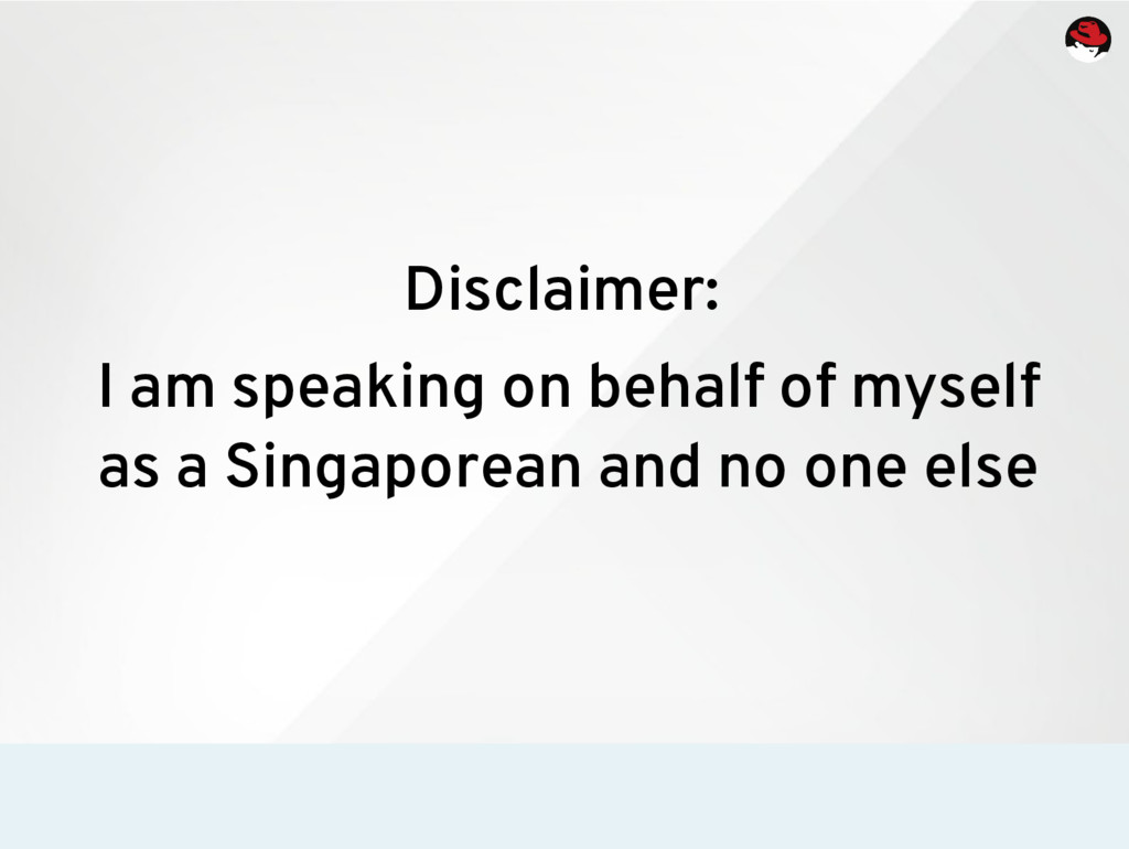 Disclaimer: I am speaking on behalf of myself a...