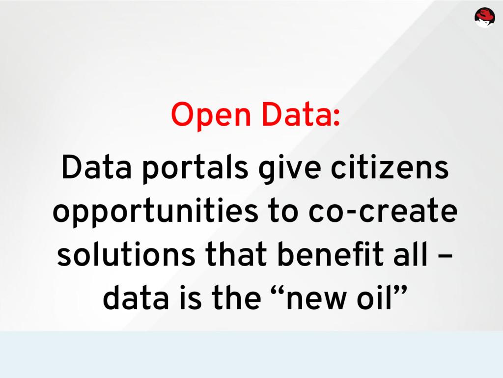 Open Data: Data portals give citizens opportuni...