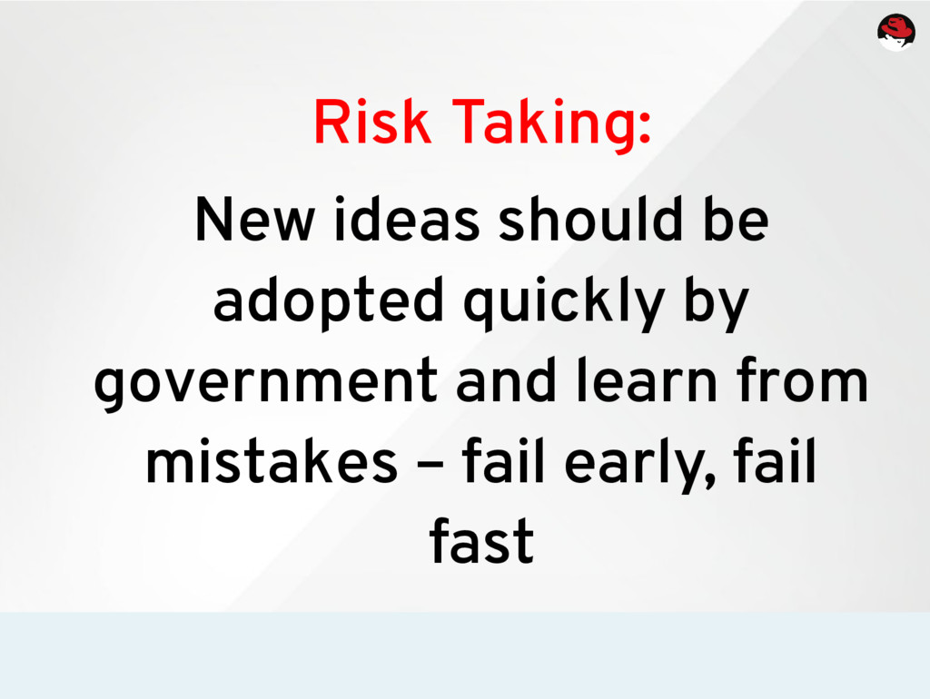 Risk Taking: New ideas should be adopted quickl...