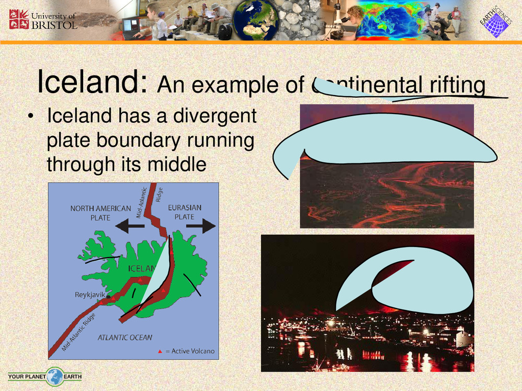 • Iceland has a divergent plate boundary runnin...